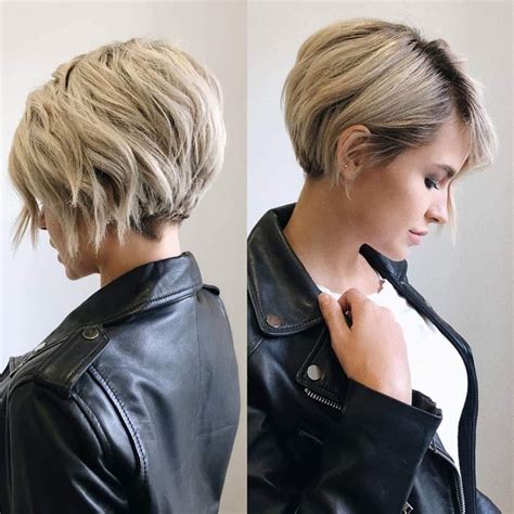 stylish short hairstyles  thick hair women short