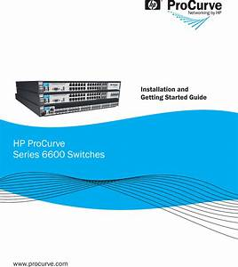Hp Procurve Series 6600 Users Manual Installation And