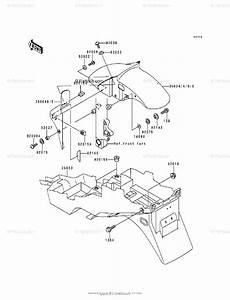 Kawasaki Motorcycle 1998 Oem Parts Diagram For Fenders