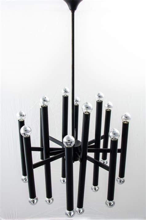 metall sä belgischer kronleuchter aus schwarzem metall gaetano