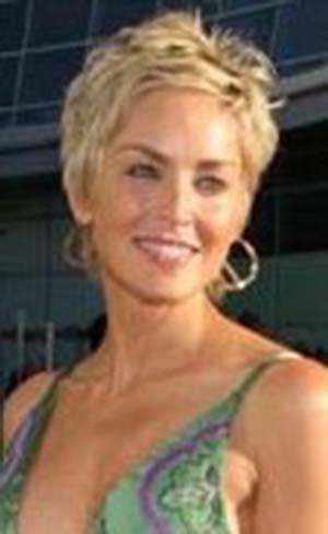 Coiffures Courtes Sharon Stone