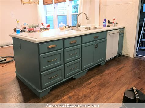 teal painted kitchen cabinets my freshly painted teal kitchen cabinets