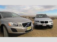 2013 Volvo XC60 versus BMW X1 060 MPH Mashup Review YouTube
