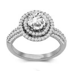 2 carat engagement rings 2 carat halo engagement ring jewelocean