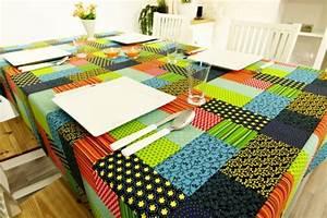 Tischdecke Selber Nähen : tischdecke in patchwork design bunt breite 100 cm tideko tischdecken tischdecken ~ A.2002-acura-tl-radio.info Haus und Dekorationen
