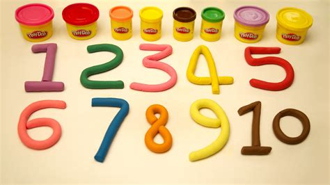 play doh numbers 1 to 10 number song