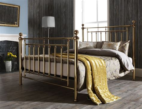 4887 metal bed frame king serene solomon 5ft king size brass metal bed frame by