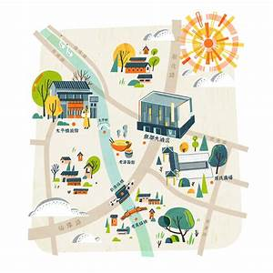 Map Illustrations For Deqing Xinshi  U5fb7 U6e05 U65b0 U5e02 U53e4 U9547  On Behance  U0e43 U0e19