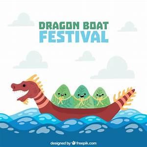 Dragon boat festival background Vector | Free Download