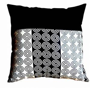 Coussin 40x40 Pas Cher : coussin noir blanc ~ Teatrodelosmanantiales.com Idées de Décoration