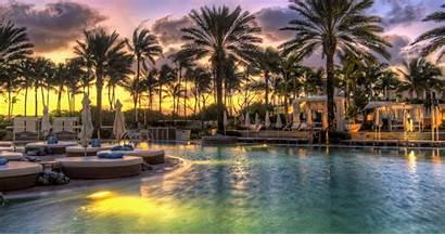 Hdr Resort Tropical Sunset Pool 4k Fabulous