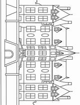 Mansion Coloring Printable Houses Mansions Tree Buildings Drawing Activities sketch template