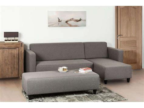 banc canape canapé d 39 angle fixe 4 places avec banc haly coloris gris