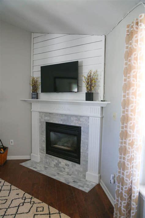 mantel makeover  basement remodeling brick fireplace fireplace remodel