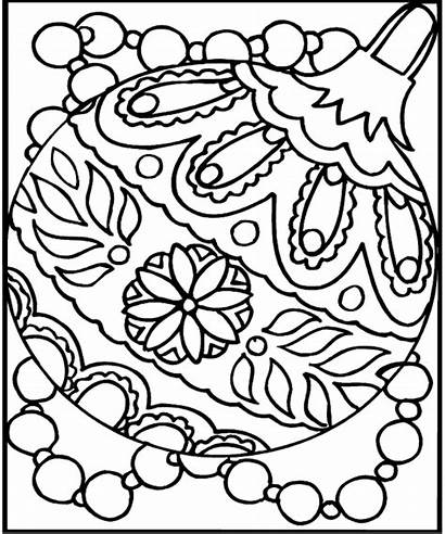 Christmas Coloring Ornaments Ornament Sheets Pages Printables