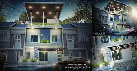 rumah minimalis dua lantai  atap terbuka