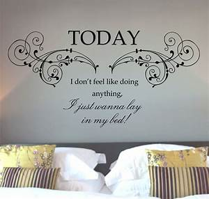 Wall decals mars lazy song quote art sticker