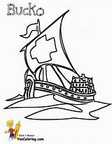 Coloring Ship Pirate Pages Paper Sloop Masted Ships Boat Pirates Yescoloring Boys Seas sketch template