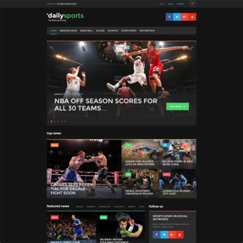 Dailysports Template Monster by Th 232 Mes Pour Sites Sportifs Templatemonster