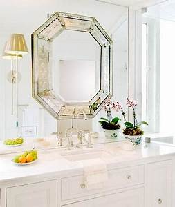 octagon mirror transitional bathroom huntley company With octagon bathroom mirror