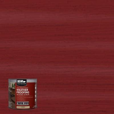 behr premium  oz st  barn red semi transparent