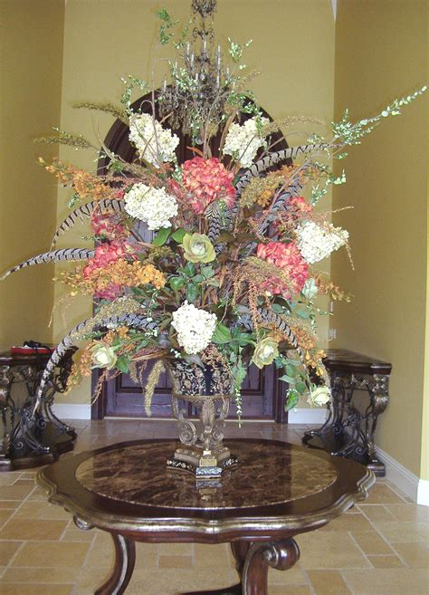 dining room table flower arrangements artificial floral arrangements for dining table designs