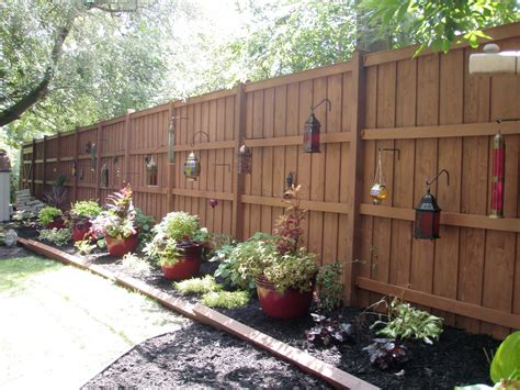 Outdoor Backyard Fence Landscape