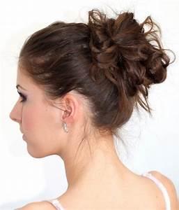 Chignon Cheveux Mi Long : coiffure facile faire en 50 id es cheveux longs et mi longs ~ Melissatoandfro.com Idées de Décoration