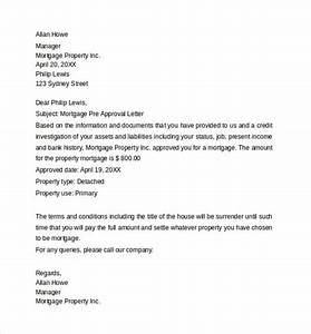 Pre approval letter 8 download free documents in word pdf for Letter of approval for mortgage