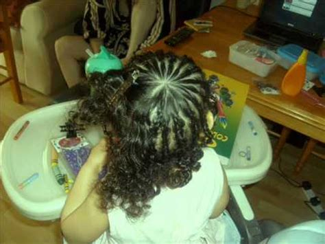 braiding  beading mixed race curly hair tutorial kids  toddlers youtube