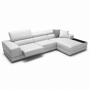 Premium reclining sectional grey leather modern bergamo sofa for Bergamo grey sectional leather sofa