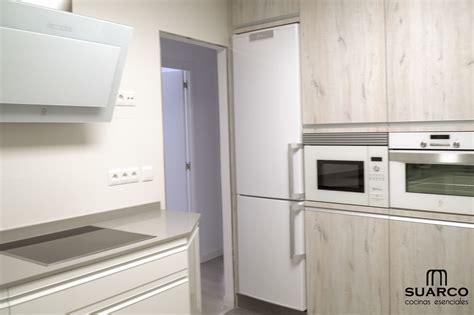 cocina moderna blanco madera cocinas suarco fabrica