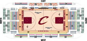 2012 13 floor seating chart cleveland cavaliers