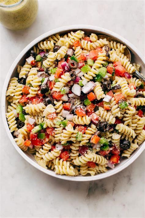easy california pasta salad with italian dressing recipe little spice jar