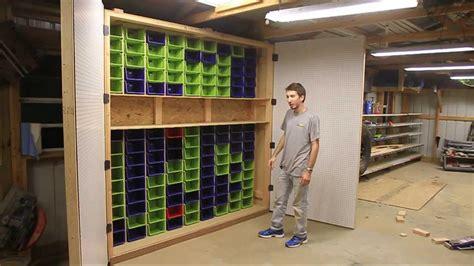 largest garage peg board  bin cabinet