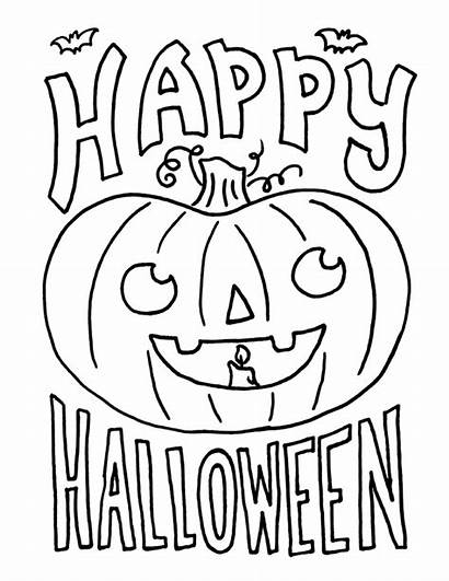 Halloween Coloring Pages Printable Happy Boo