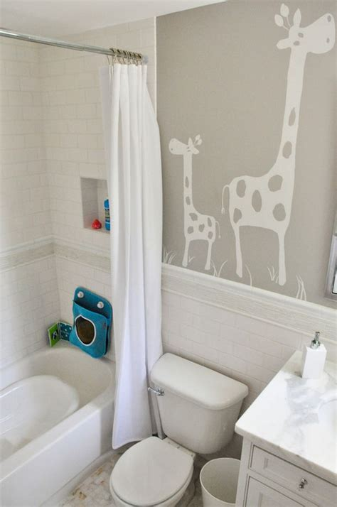playful  colorful kids bathroom design ideas
