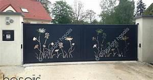 hosaiis portail decoupe laser alu design portail en fer With awesome photos terrasses et jardins 5 portail alu decoupe laser