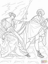 Joseph Coloring Wife Potiphar Pages Potiphars Reni Guido Printable Drawing Dots sketch template