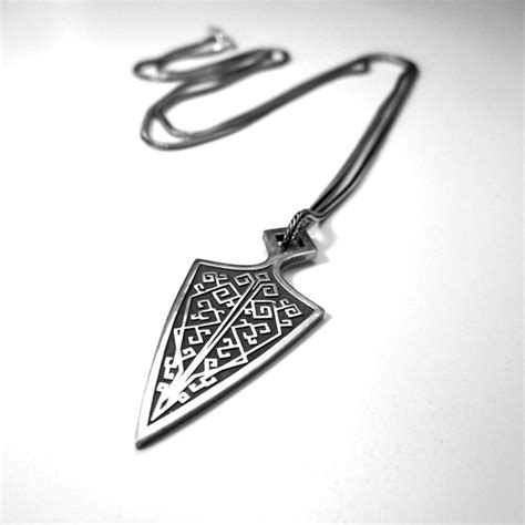 sterling silver knife perepaix mens oxidized sterling silver chain and