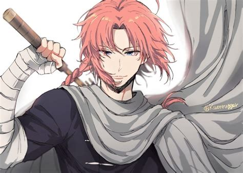 wallpaper gintama kamui cape braid anime boy