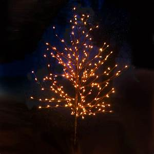 konstsmide 150cm brown outdoor weeping twig tree with With outdoor battery operated twig lights