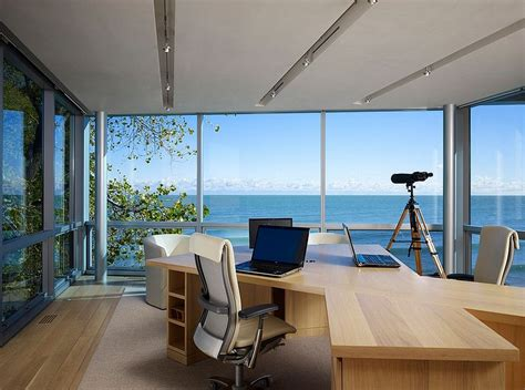fascinating ocean view home offices designs