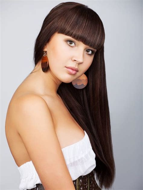 stylish haircuts hairstyle for hair with china cut bangs pretty 9908