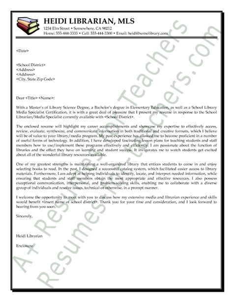 application letter sle assistant librarian cover