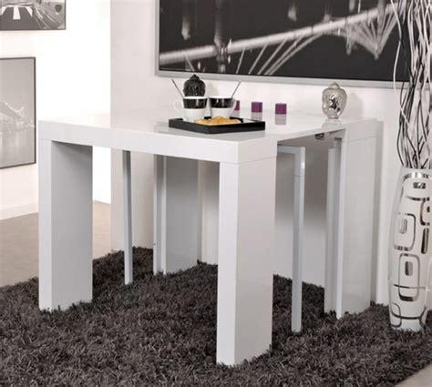 table d appoint cuisine table console extensible algo blanc
