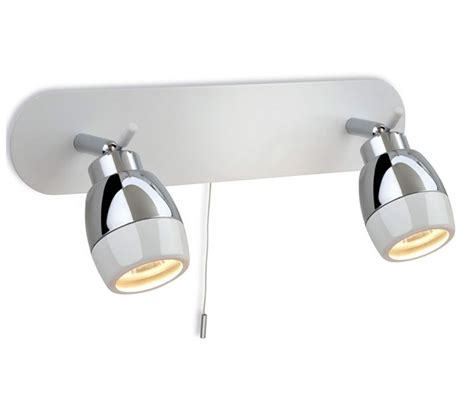 Bedroom Wall Lights With Pull Cord Uk by Ip44 Marine White With Chrome Bar Wall Bathroom