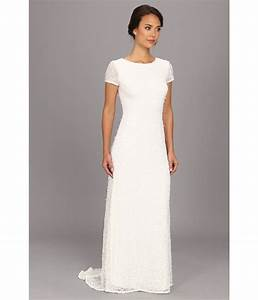 adrianna papell illusion bodice lace sheath dress for With adrianna papell wedding dress