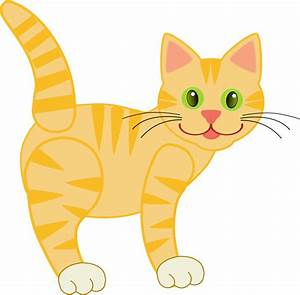 Clipart - Yellow Tiger Cat