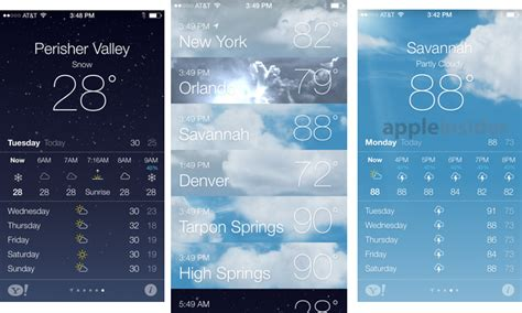 weather apps for iphone inside ios 7 apple s weather app gets animated iphone